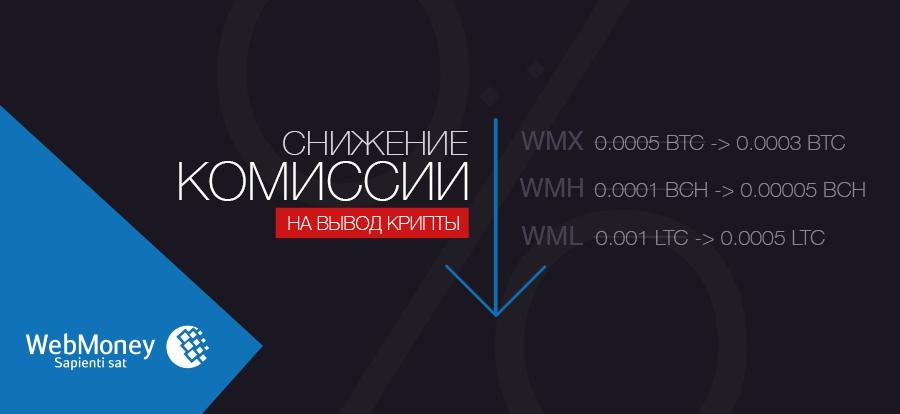 Снижение комиссии при выводе по расписанию WMX, WMH, WML